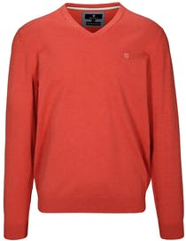 V- Pullover - Summer Red Melange