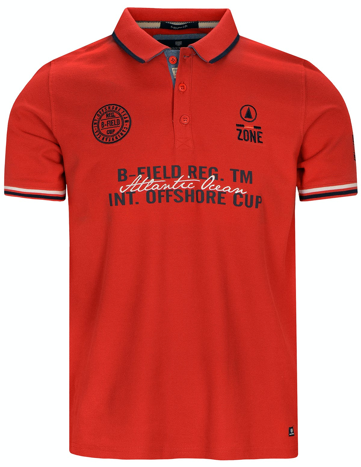 Poloshirt mit Applikationen - Dark Salmon