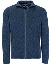 Zip Troyer Strickjacke - Blue Navy