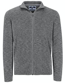 Zip Troyer Strickjacke - Silber