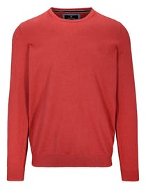 Pullover - STEFAN mit meliertem Design - Indian Red