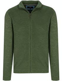 Stehbund Strickjacke - Jungle Green Melange