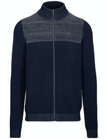 Stehbund Strickjacke - Blue Navy