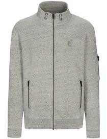 Sweat Cardigan Zip - Silber Meliert