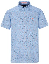 Kurzarmhemd mit Print-Muster MODERN FIT - Summer Blue