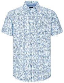 Kurzarmhemd mit Muster MODERN FIT - Soft Blue