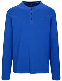 Henley Shirt Langarm - True Blue