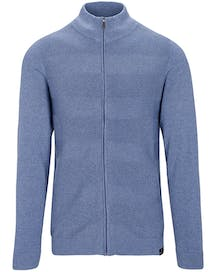 Stehbund Strickjacke - True Blue