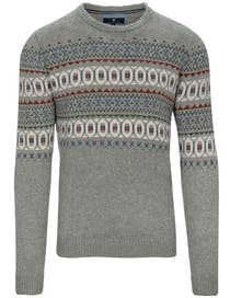 Norweger-Pullover mit Wollanteil - Grey