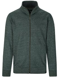 Zip Sweat Cardigan - Pine Melange