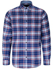 Flanellhemd Karomuster MODERN FIT - Night Blue