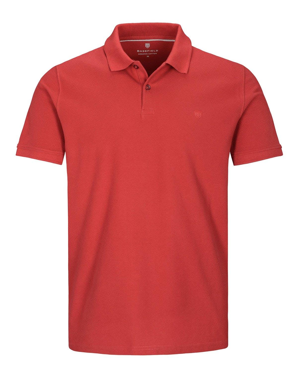 ORGANIC COTTON Polo Pique - Red