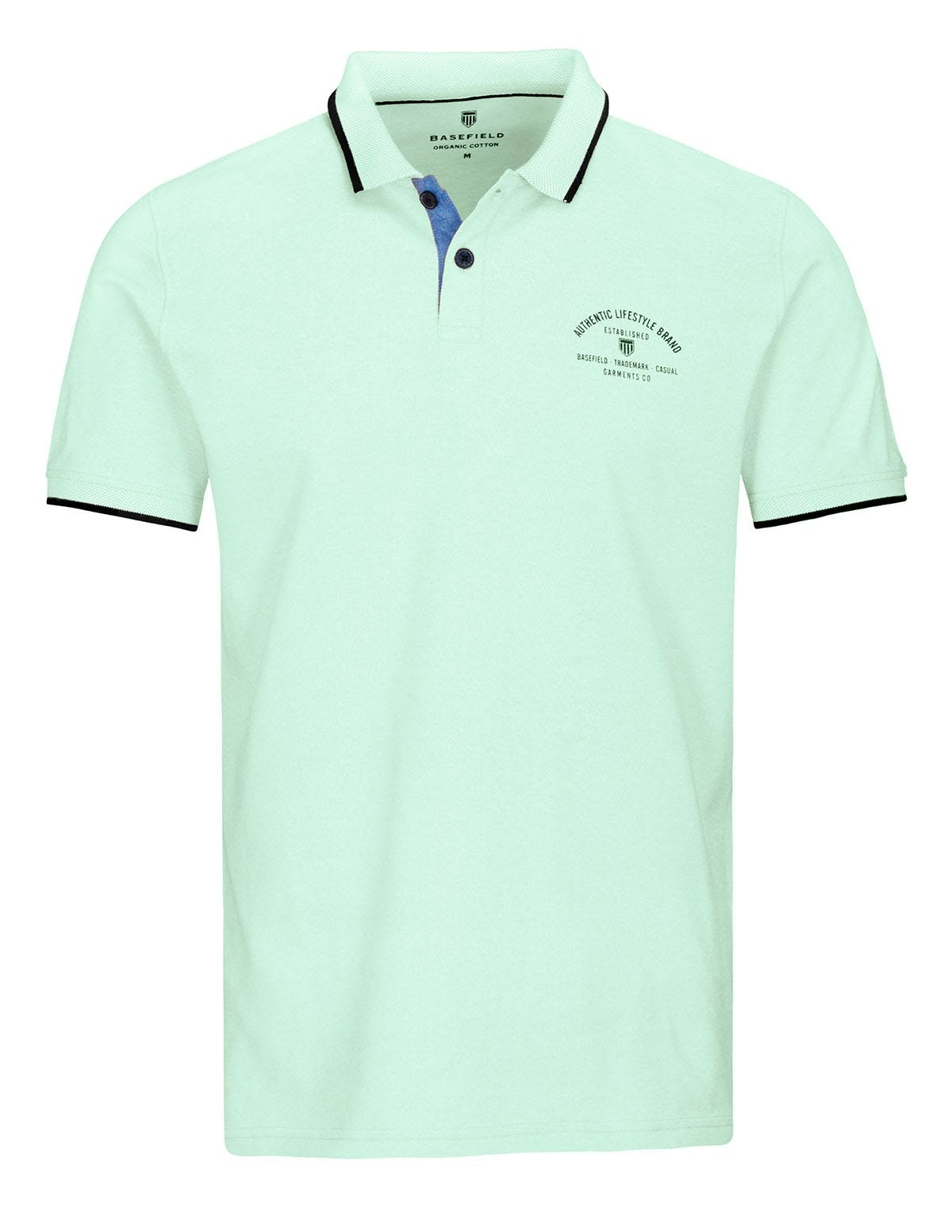 ORGANIC COTTON Polo Pique - Soft Lake