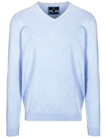 V-Pullover Cotton Stretch - Fresh Water Melange