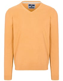 V-Pullover Cotton Stretch - Melon Melange
