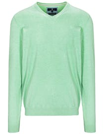 V-Pullover Cotton Cashmere - Coast Green Melange