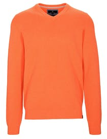 V Pullover - Bright Orange