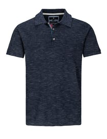 Polo Pullover mit Struktur-Design - Blue Navy