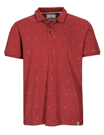 Polo-Shirt mit Allover-Muster ORIGINALS - Red