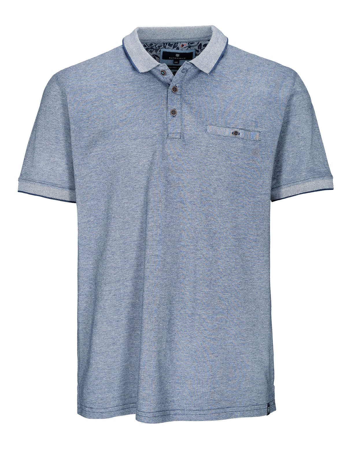 ORGANIC COTTON Polo Shirt 1/2 - Blue Navy