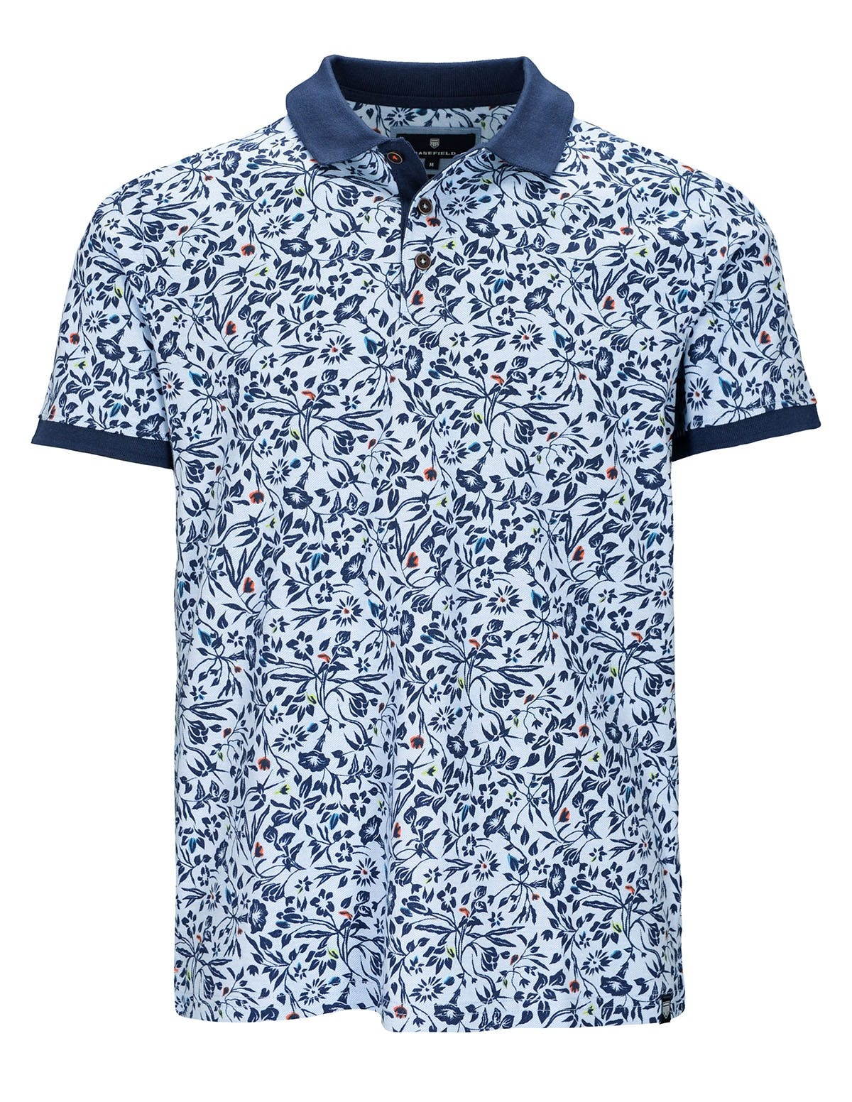 ORGANIC COTTON Polo Shirt mit Allover-Print - Fresh Water