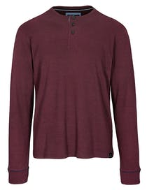 ORGANIC COTTON Henley Shirt - Pepper