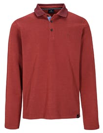 ORGANIC COTTON Polo Pique Shirt - Deep Wine