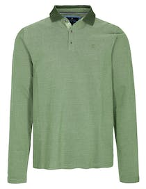 ORGANIC COTTON Polo Pique Shirt -  Pesto