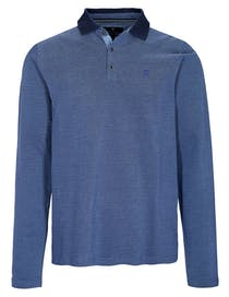 ORGANIC COTTON Polo Pique Shirt - Blue Navy