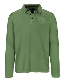 ORGANIC COTTON Polo Shirt 1/1 - Pesto