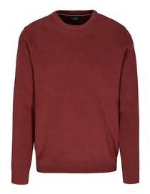 Strickpullover COTTON CASHMERE - Deep Wine Melange