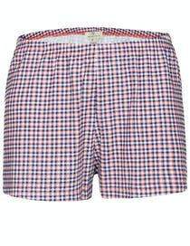 Homewear Short Karo-Druck - Melon