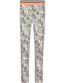 HOMEWEAR Leggings LEO - Grau Schwarz Alloverprint