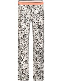 HOMEWEAR 7/8 Hose LEO - Grau Schwarz Alloverprint