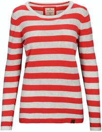 BASEFIELD Ringel Pullover DIANA - Bloody Red Cool