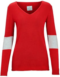 V-Neck Pullover COCO - Bloody Red