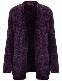 Cardigan Chenille - Dark Wine