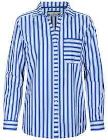 Multiringel Bluse - Surfblue Stripe