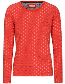 Sweatshirt Jacquard - Ketchup Red White