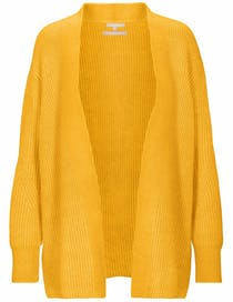 Cardigan mit offener Silhouette - Yellow Curry