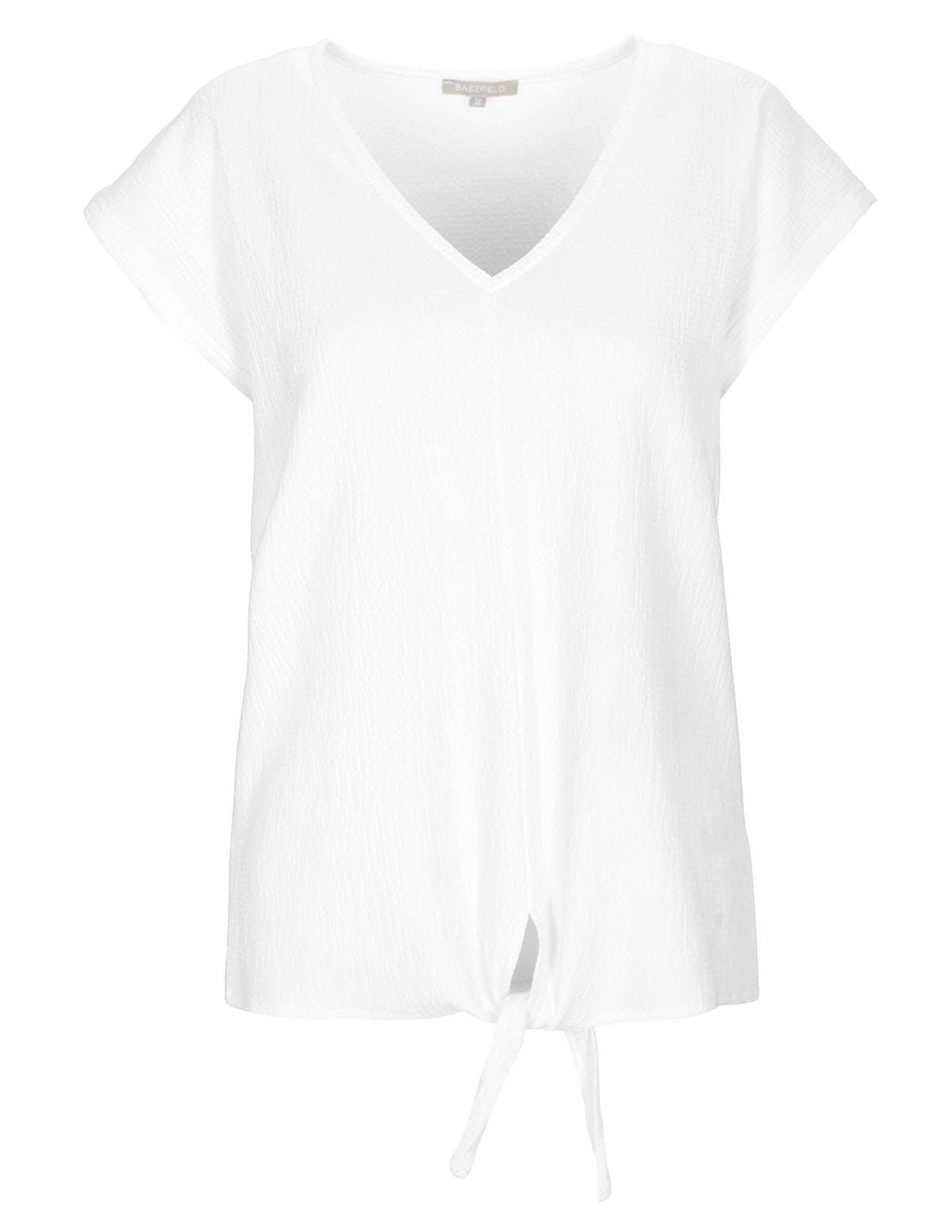 T-Shirt Struktur - Bright White