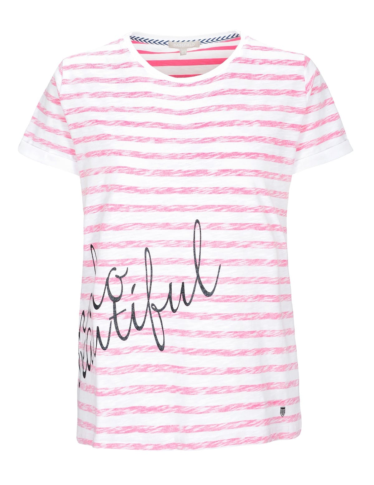T-Shirt Inside Print - Power Fuchsia White