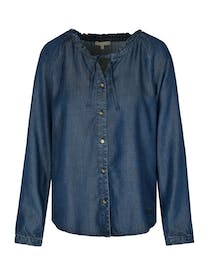 Bluse TENCEL™ Denim Optik - Night Sky