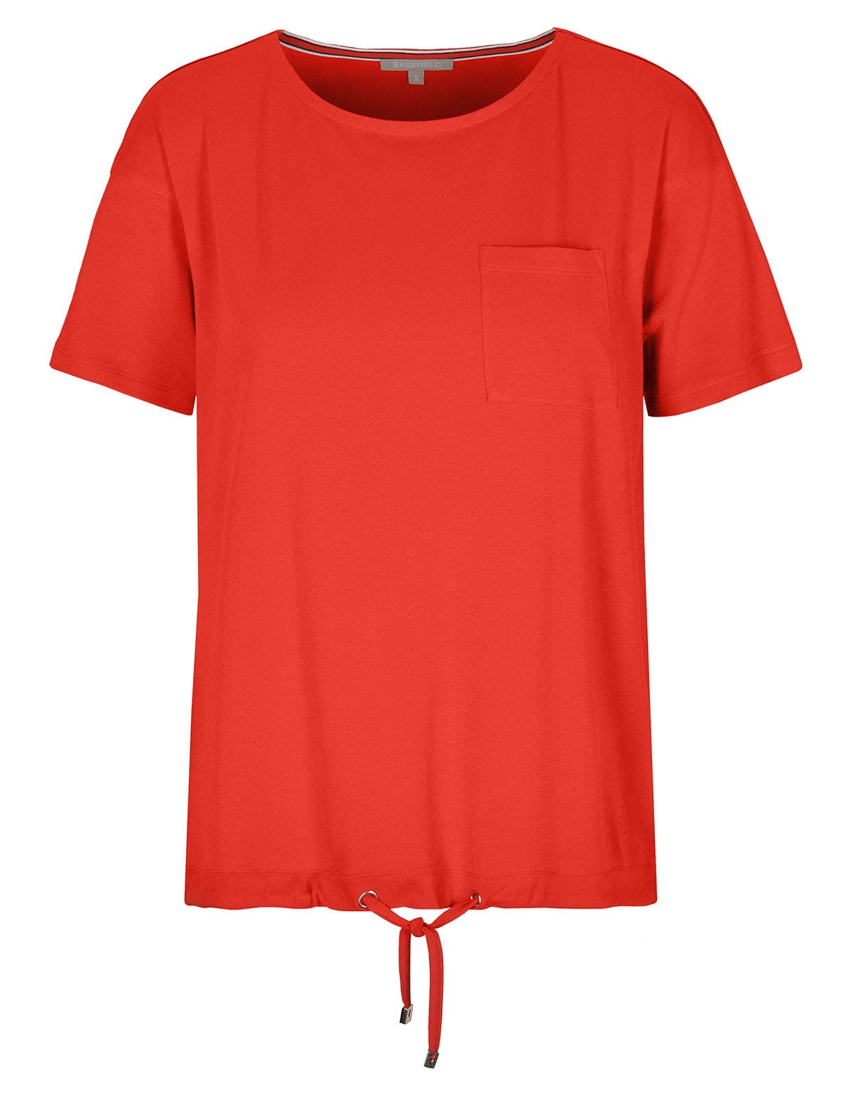 T-Shirt mit Tunnelzug - Rooftop Red