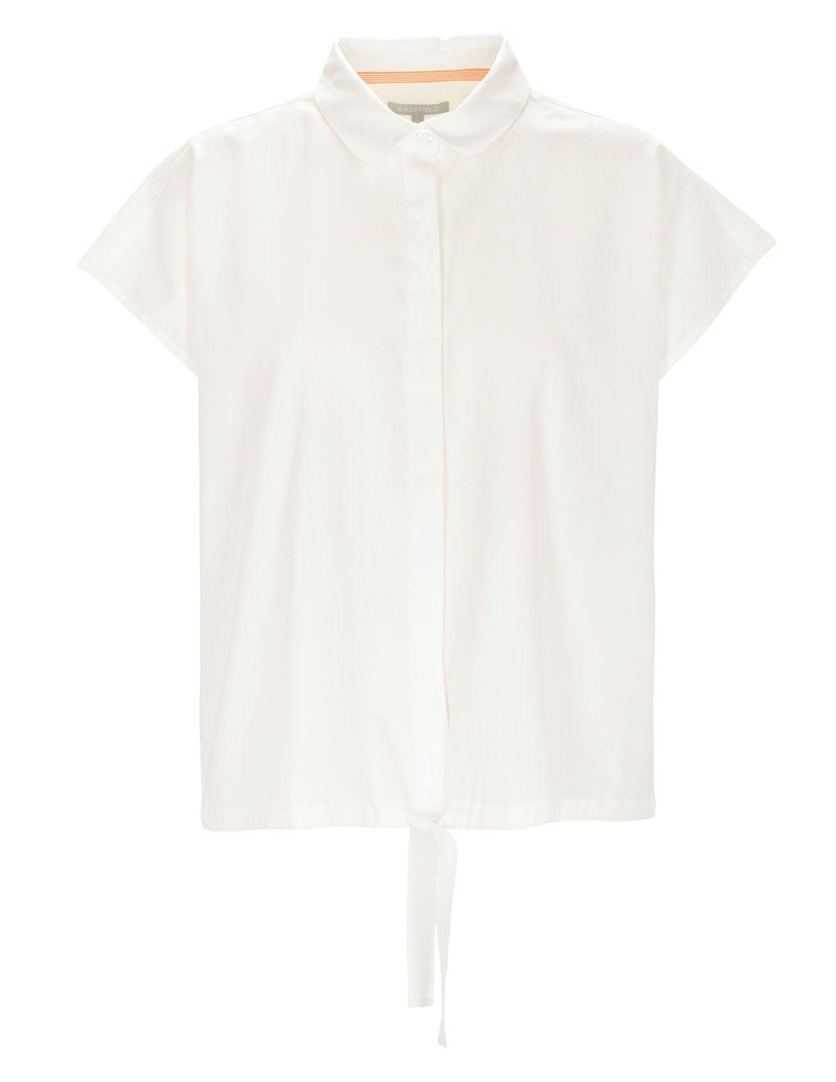 ORGANIC COTTON Bluse mit Tunnelzug - Coco White