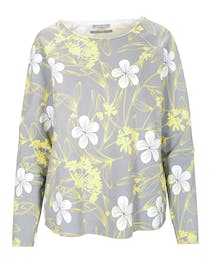 ORGANIC COTTON Sweatshirt mit Blumen - Grey