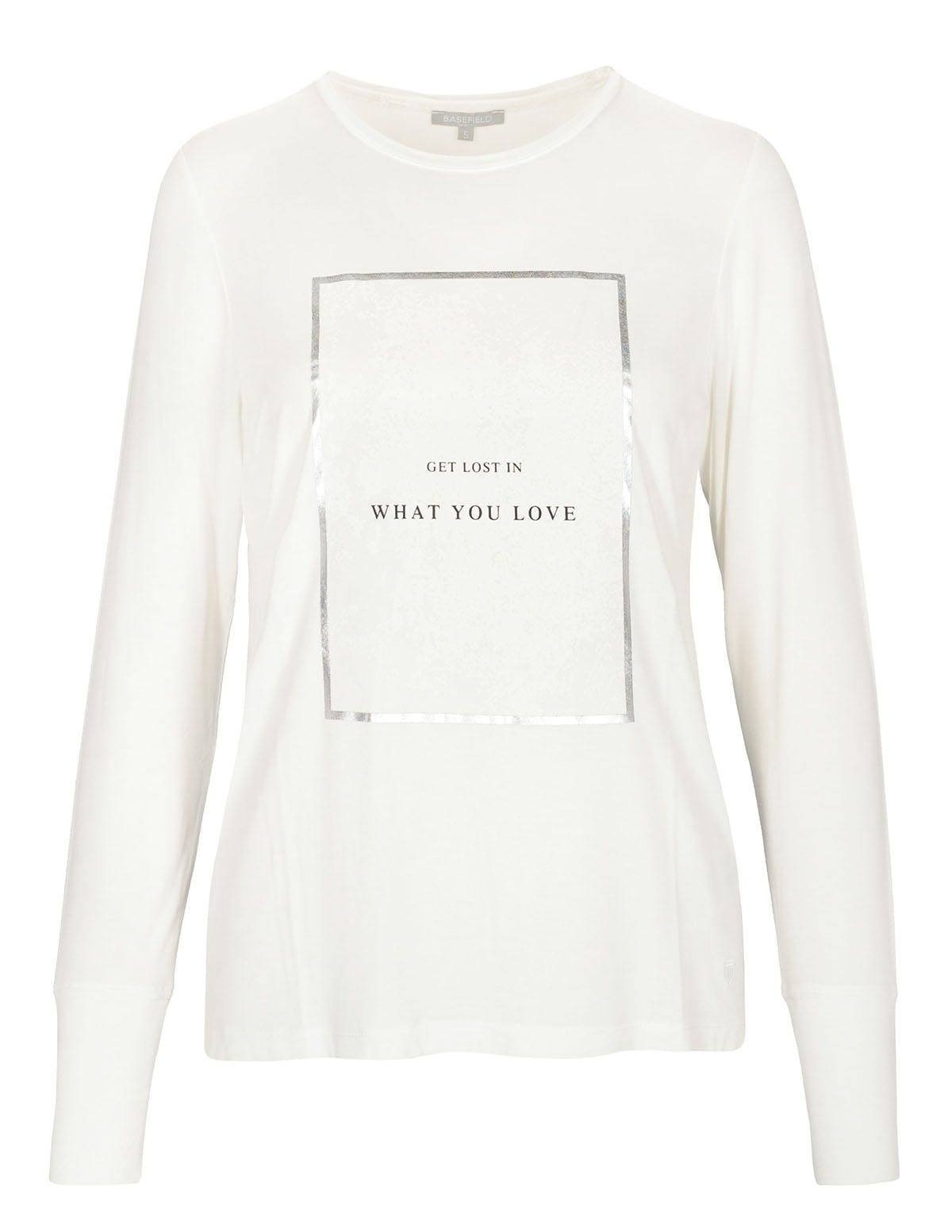 T-Shirt - NELLE mit Front-Print - Offwhite