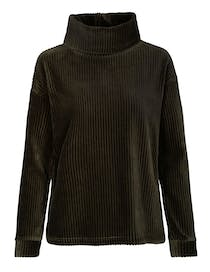 Sweater in Breitcord-Optik - Dark Moss