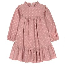 BASEFIELD Cordkleid DOTS - Dusty Rose