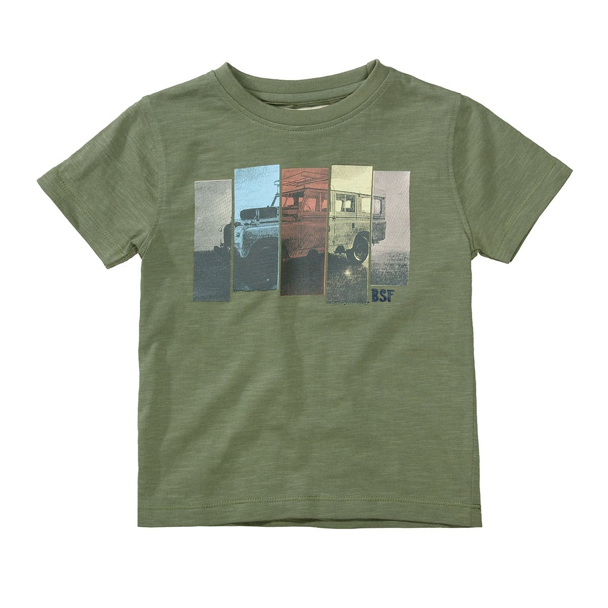 BASEFIELD T-Shirt TRUCK - Washed Olive